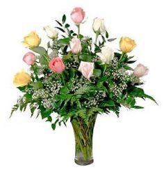 Rainbow Rose Vase