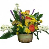 Whispering Woods Autumn Fresh Floral Mix Basket