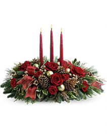 3 candle christmas blessings centerpiece