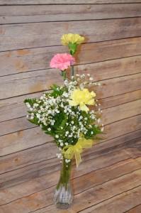 3 Carnation Bud Vase