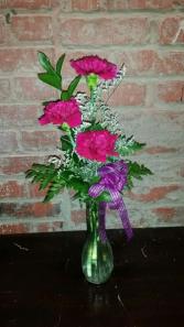 3 Carnations Bud Vase