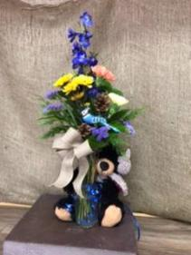 3 carnations Vase arrangement