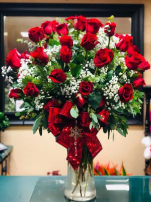 3 doz red roses  Roses  in Visalia, CA | Peter Perkens Flowers