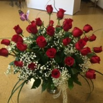 3 Dozen Roses Vase Arrangement