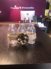 3 Mini Jar Flower Vases Gift Item