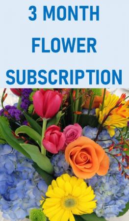 3 Month Flower Subscription Service