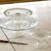 3 pc Glass Cake Stand set Gifts