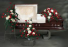 3 PC RED SOLACE PACKAGE STANDING SPRAY, FLOR/PEDESTAL PC AND CASKET SPRAY