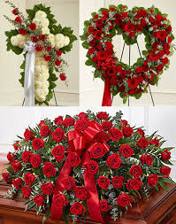"3 PC ""TRUE LOVE"" FUNERAL PACKAGE CROSS, OPEN HEART, AND CASKET SPRAY"