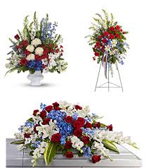"3 PC  "" VETERAN "" PACKAGE PEDESTAL PIECE, STANDING SPRAY AND CASKET"