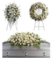 3 PC WHITE FUNERAL PACKAGE THIS MONTH ONLY! CASH PRICE PURCHASE IN STORE NOW $325