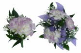 3 purple tipped min. carns/1standerd Carnation Pin on