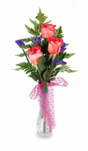 3 Rose Bud Vase Assorted colors available