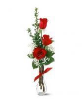 3 rose bud vase roses