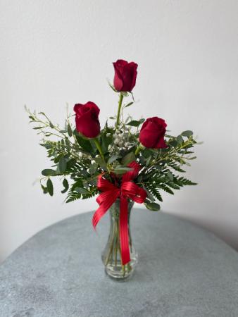 3 Rose Budvase