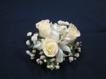 3 Rose Corsage, $25.00  Available in white, red, pink, yellow and orange