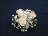 3 Rose corsage, $25.00 available in white, yellow, pink, red, orange