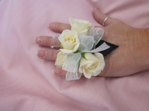 3 Rose Ring Corsage, $35.00