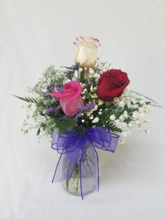 3 Rose Vase
