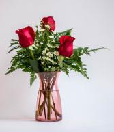 3 Rose Vase Vased Arrangement