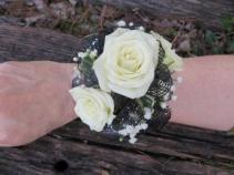 3 Rose Wrist Corsage Fresh Wrist Corsage