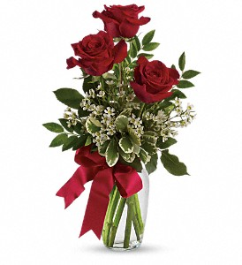 3 Roses in a Bud Vase by Enchanted Florist