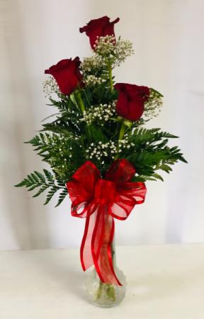3 Roses  Vase Arrangement