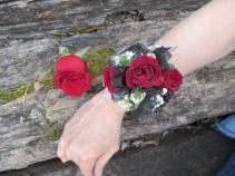 3 Spray Rose Wrist Corsage Fresh Wrist Corsage