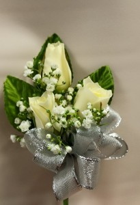 3 Sweetheart rose  corsage