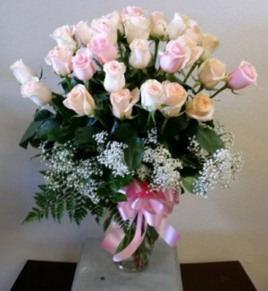 30 Shades of Pink Pink Rose Arrangement in Charlotte, NC | Plush Blooms of Charlotte