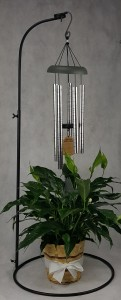 "30"" Wind Chime and Stand with Plant Funeral"