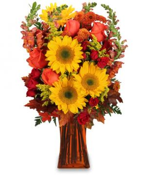 All Hail to Fall! Flower Arrangement in Cliffside Park, NJ | FLOWERS OF THE FIELD