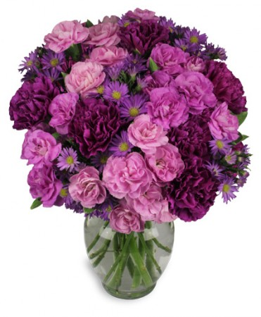 Purple Pion Flower Arrangement