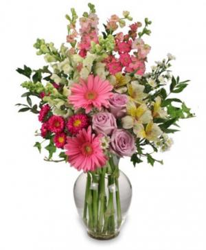 Amazing Day Bouquet Spring Flowers in Bath, NY | VAN SCOTER FLORISTS