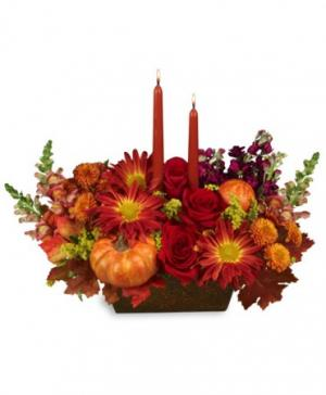 THANKSGIVING TRADITION Centerpiece in Nassawadox, VA | Florist By The Sea