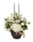 IVORY LIGHT CENTERPIECE Floral Arrangement