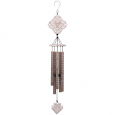 "35"" Family Joy White Vintage Windchimes"