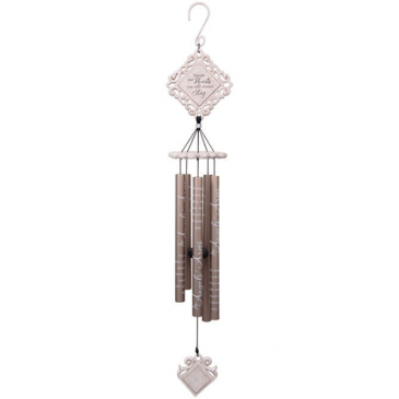 """35"""" """"In Angels' Arms"""" Vintage White Chime Windchime"""