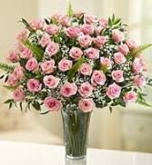 36  Pink Roses Vase Arrangement