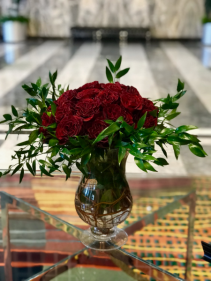 36 Red Garden roses Red Rose Arrangement