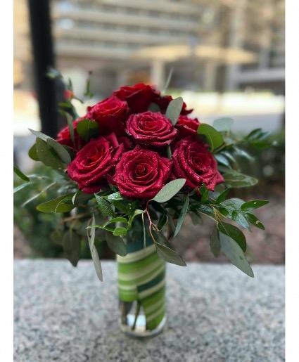 36 Red Garden roses Red Rose Arrangement