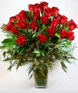 36 Red Roses vased