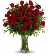 36 red roses arrganged 3 dz. red rose arrangement