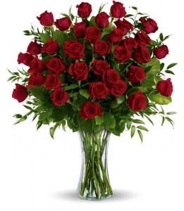 36 red roses arrganged 3 dz. red rose arrangement