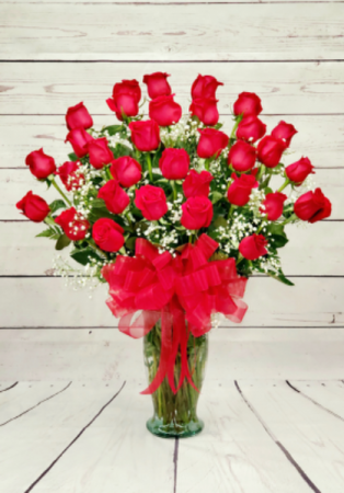 36 Red Roses In A Vase