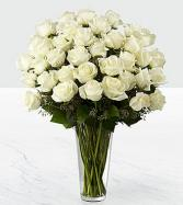 36 White rose bouquet