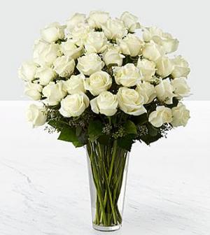 36 White rose bouquet   in Coconut Grove, FL | Luxury Flowers
