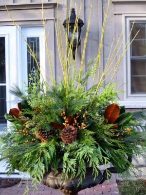 360 Planter  Winter Planters  in Oakville, ON | ANN'S FLOWER BOUTIQUE-Wedding & Event Florist