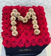 3D Initial Large Box Roses That Last A Year