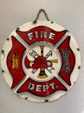 3D Metal Fire Department Sign
